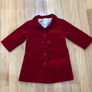 Baby Gap Red Velvet Coat